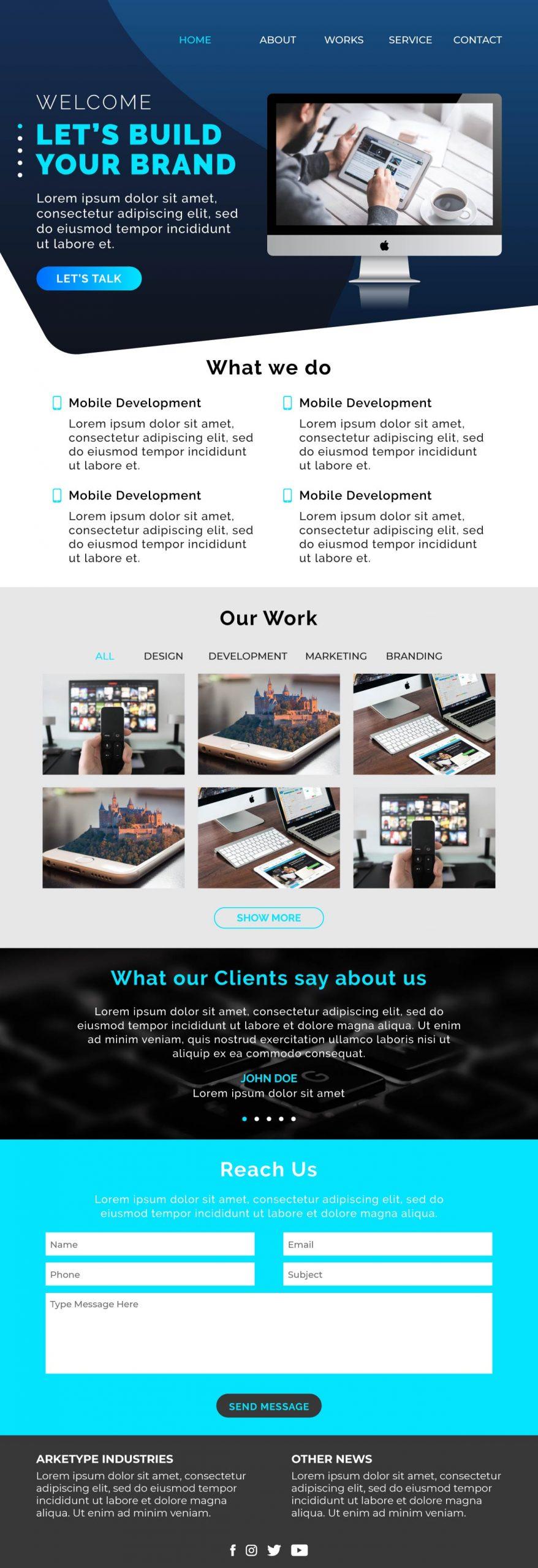 454383 Full Landing Page Companyportfolio